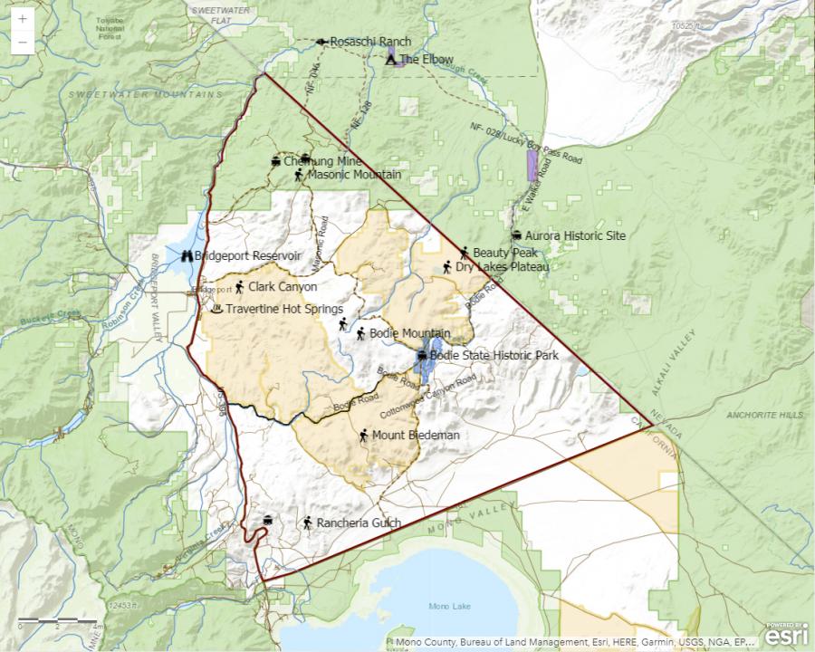 Bodie Hills Map